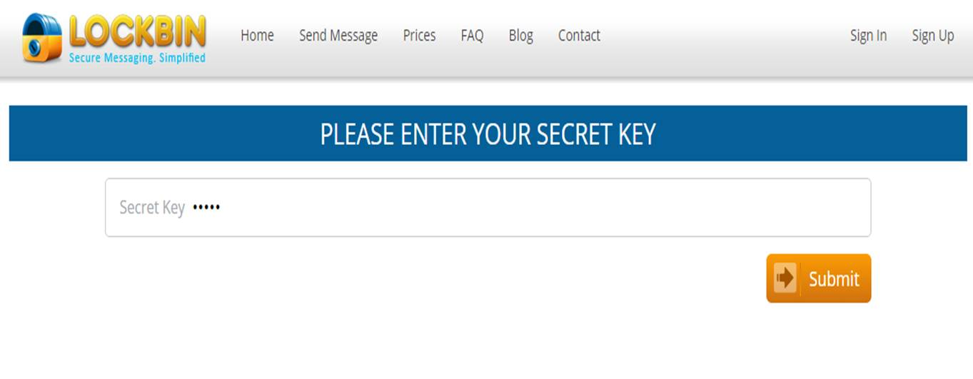 secret key lockbin