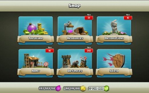 Negozio Clash of Clans