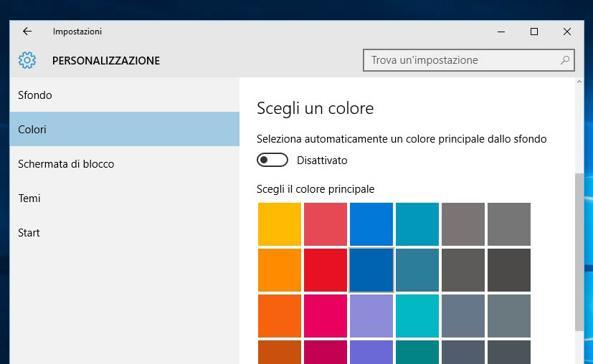 Windows 10 Colori