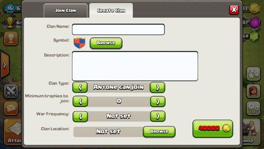 Come creare un clan in Clash of Clans
