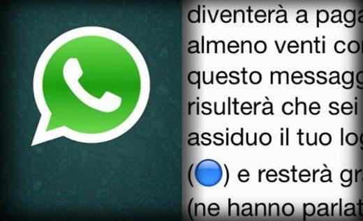 WhatsApp messaggi bufala