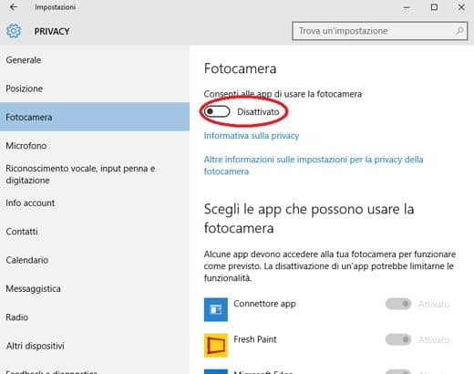 privacy windows 10
