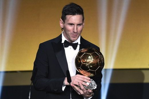 Messi vince Pallone D'oro 2015