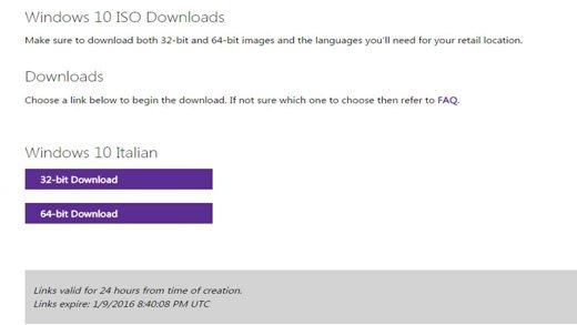 Windows 10 32 bit e 64 bit