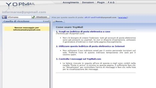 Controlla Posta con YopMail