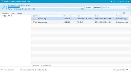 Data Recovery Wizard Free - scansione