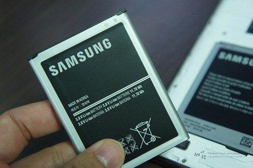 La batteria al litio di uno smartphone