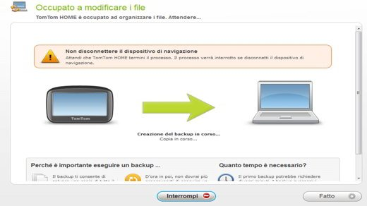 Backup navigatore satellitare