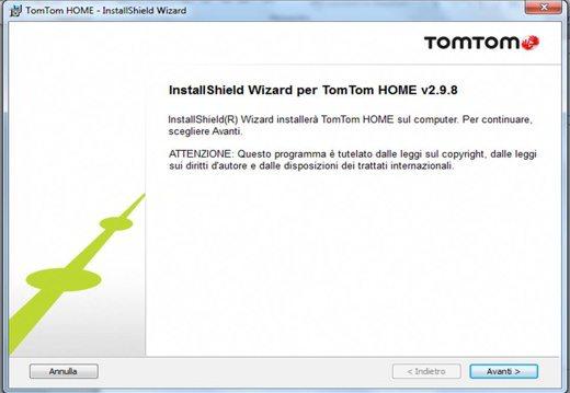 Wizard installazione TomTom Home