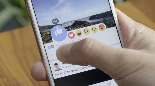 Reactions Facebook Mobile