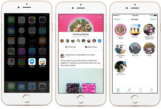 Facebook Groups su iOS