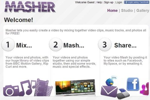 Come creare video con Masher