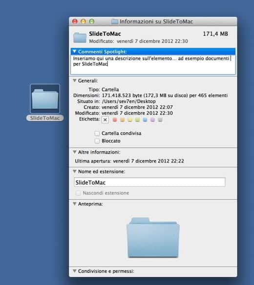 Personalizzare icona cartella Mac