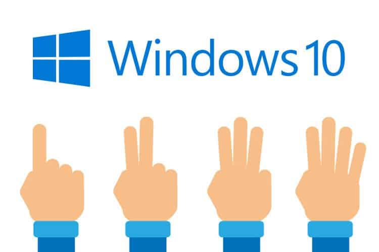 Gesture Windows 10