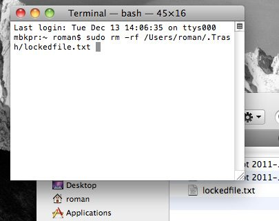 Terminale Mac OS X