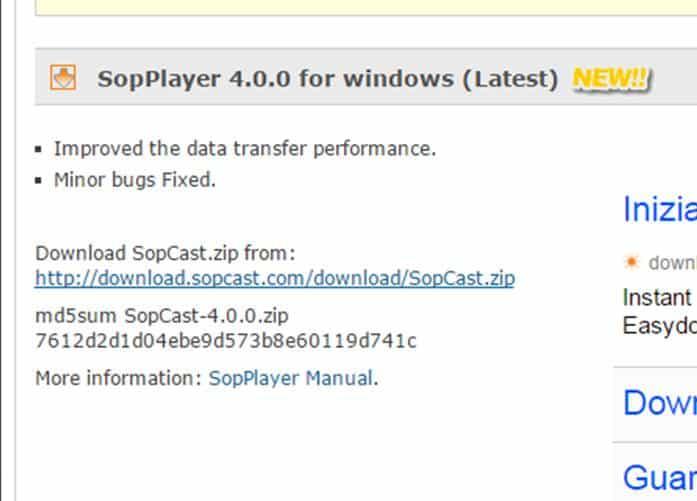 Sopcast download