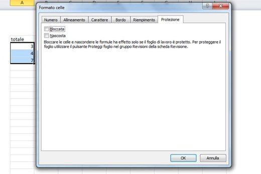 Protezione Bloccata Excel