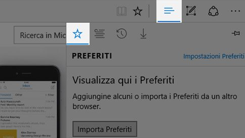 Come importare i preferiti in Microsoft Edge