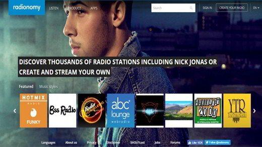 Radionomy - Come aprire una Web Radio gratis