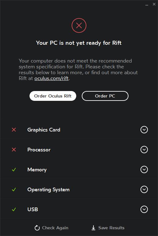 Rift compatibility tool