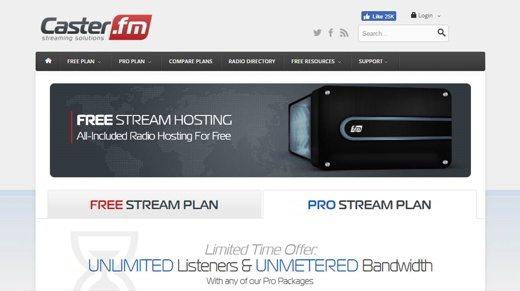 caster fm - Come aprire una Web Radio gratis