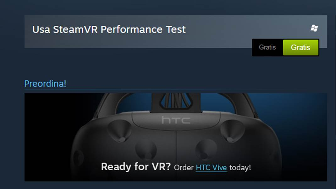 SteamVR Performance test gratis