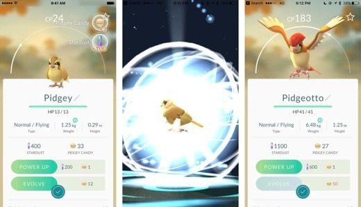 Evoluzione dei Pokémon Go