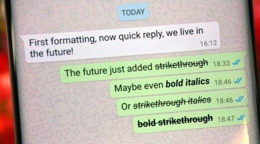 Come formattare testo su WhatsApp