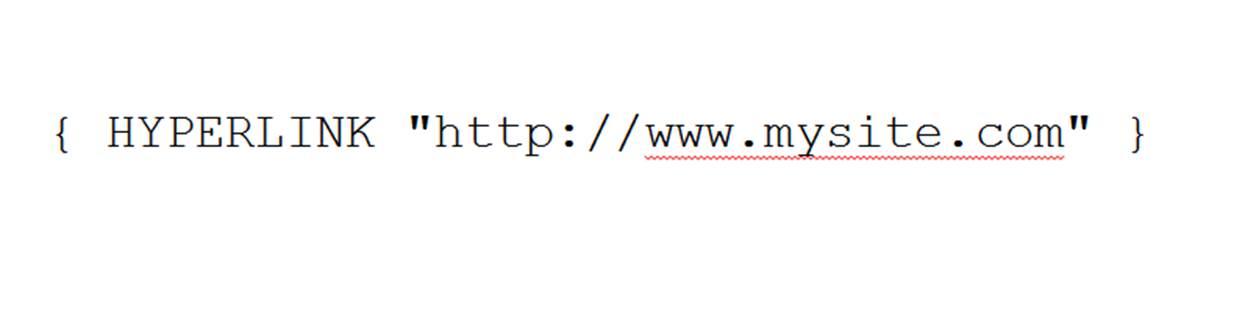 Errore Hyperlink in word