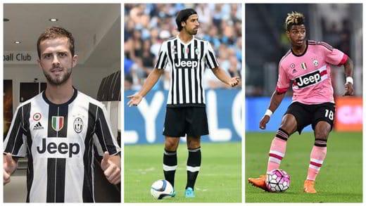 Centrocampo Juventus 2017