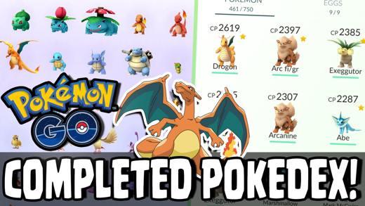 I Pokédex in Pokémon Go