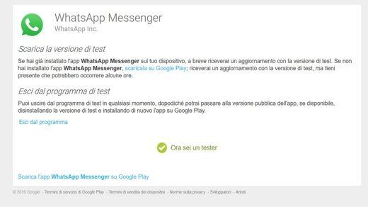 Come scaricare la versione di test di WhatsApp