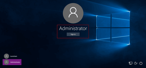 Come loggarsi amministratore Windows 10