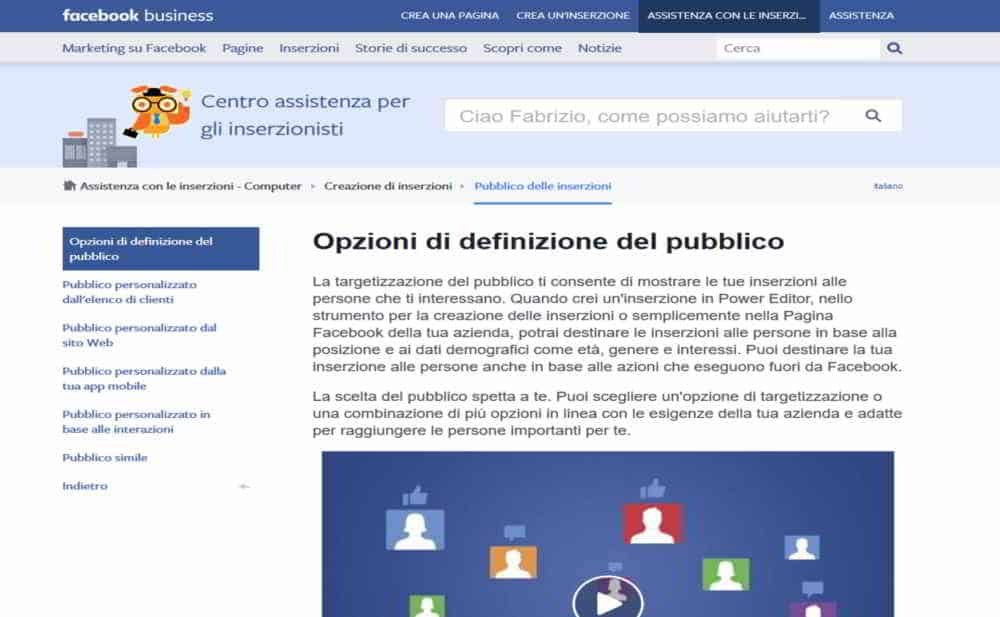 Promuovere un'attività su Facebook