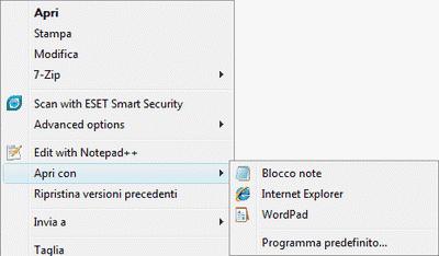Apri Con Notepad