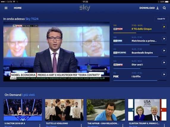 Sky Go Plus - canali e funzionalità