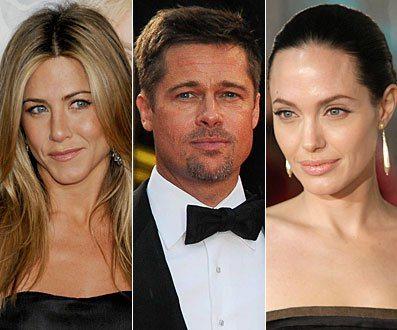 Aniston, Brad Pitt, Angelina Jolie