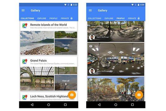 Fotocamera nell'app Street View