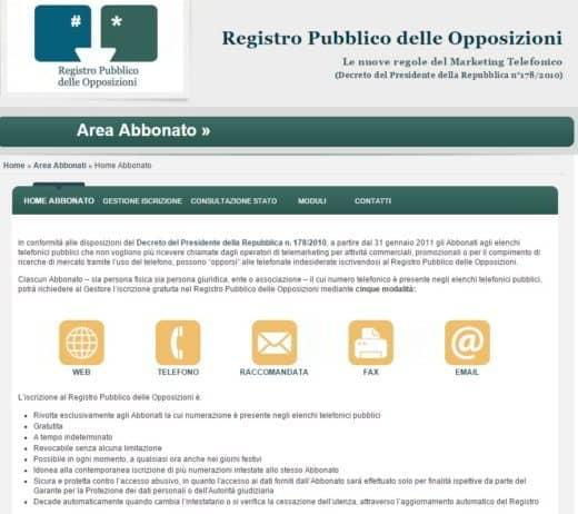 Area Abbonato Web