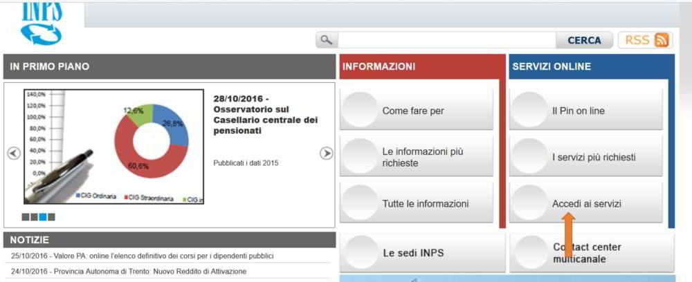 Come calcolare la pensione online informarea for Inps on line accedi ai servizi