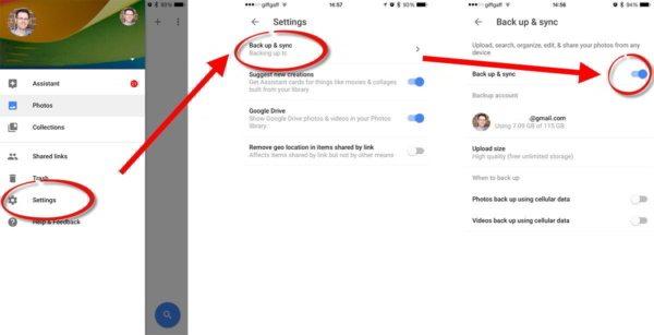 Backup e Sincronizzazione Google Foto