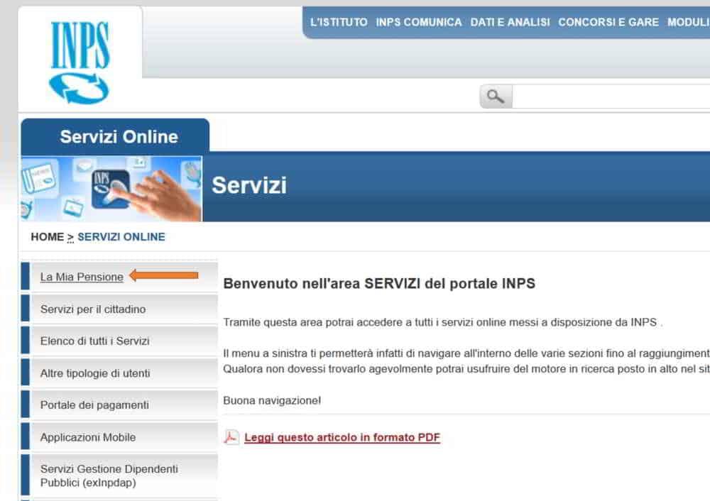 calcolo pensione online