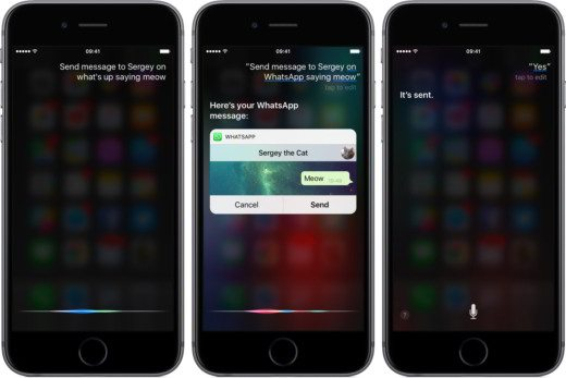 Dettare messaggio WhatsApp con iOS