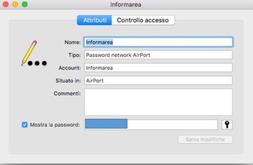 come trovare pw wifi