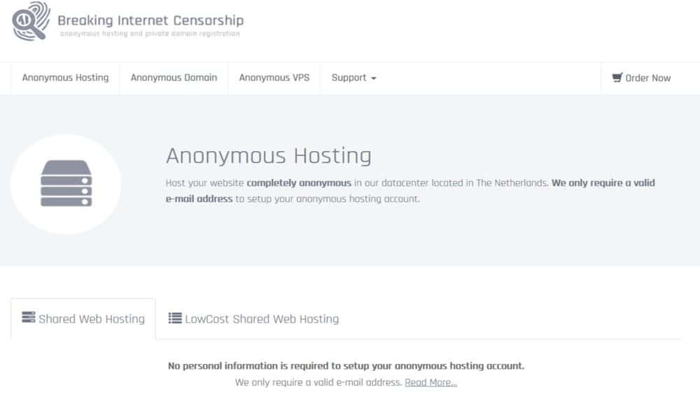 Anonymous Hosting