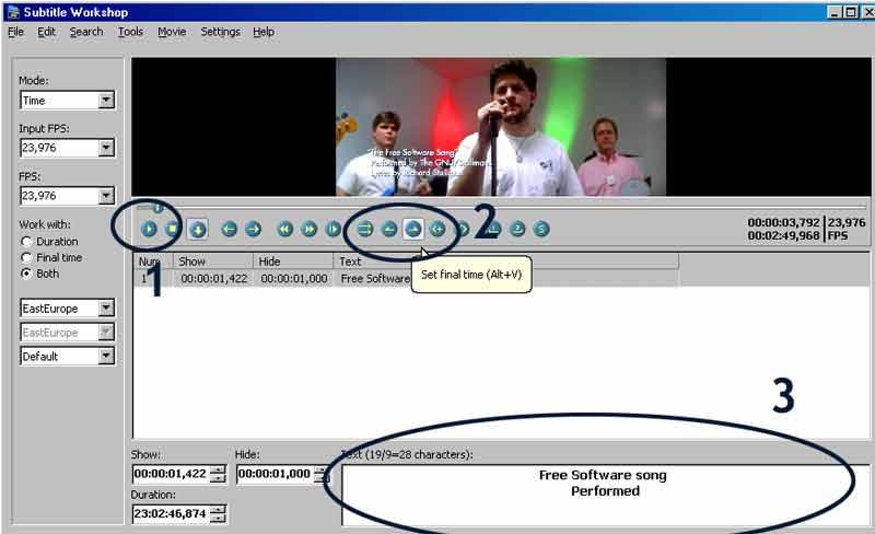 Come funziona Subtitle Workshop