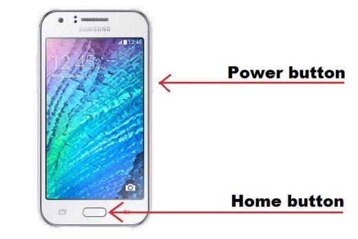 Screenshot Samsung Galaxy J