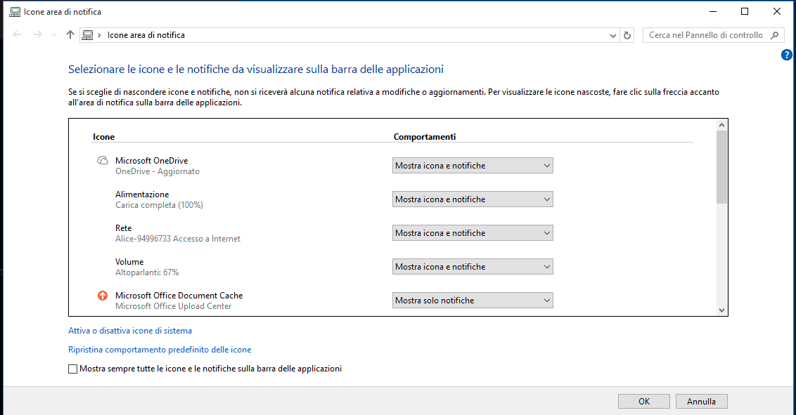 Icone Area Notifica Windows 7 e 8