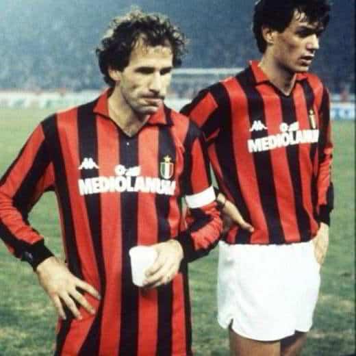 Paolo Maldini e Franco Baresi
