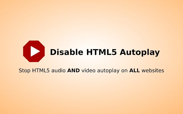 Disable HTML5 Autoplay